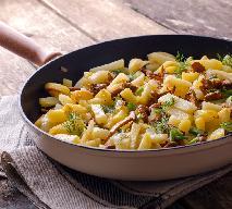 Zapiekanka z młodych ziemniaków z kurkami w sosie śmietanowym: przepis