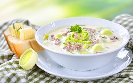Wyśmienita zupa z porów z mięsem mielonym