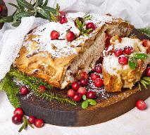 Ciasto marcepanowe z żurawiną