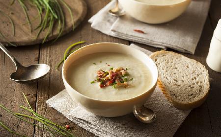Praska kartoflanka z borowikami - świetna zupa rodem z Czech